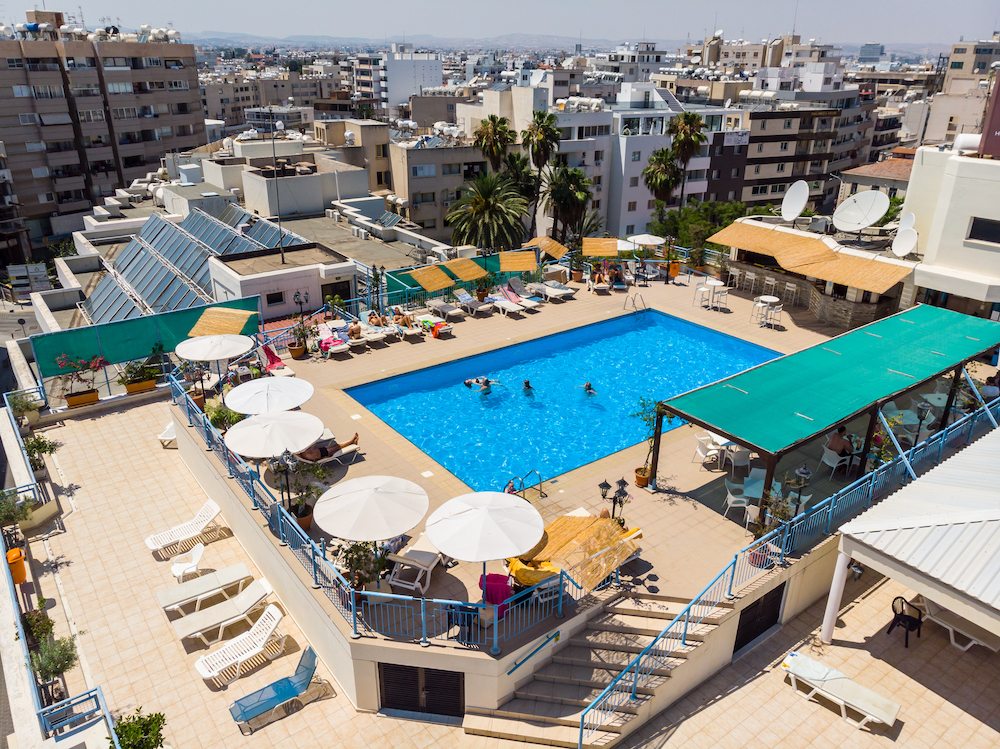 Rooftop Pool Aerial 3
